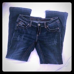 Grace in LA Jeans - Grace in LA women's embellished boot cut jeans 28